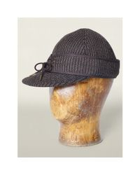 RRL - Gray Woodsman's Herringbone Cap for Men - Lyst
