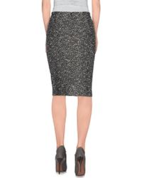 Dior - Black Knee Length Skirt - Lyst