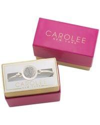 Carolee | Metallic Silver-tone Crystal Pave Glam Girls Bracelet | Lyst