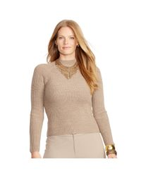 Ralph Lauren | Natural Ribbed Merino Wool Sweater | Lyst