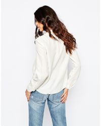BOSS Orange - Natural Eliberty Longsleeve Shirt In White - Lyst