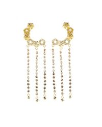 Eddie Borgo - Metallic Pavé Lattice 18kt Goldplated Crystal Ear Cuffs - Lyst