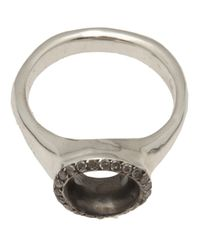Rosa Maria | Metallic Thin Band Ring | Lyst
