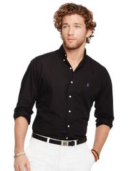Polo Ralph Lauren - Black Button Down Poplin Shirt for Men - Lyst