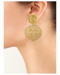 Kenneth Jay Lane | Metallic Filigree Earrings | Lyst