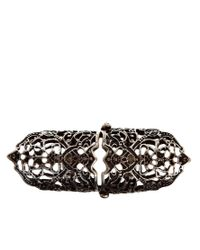 ASOS - Metallic Filigree Armour Ring - Lyst