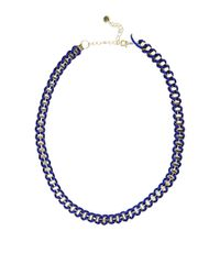 Pull&Bear - Blue Pull Bear Chain Necklace - Lyst