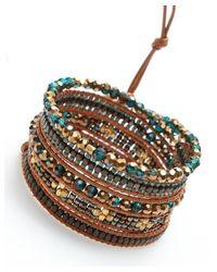 Nakamol | Multicolor Luminous Wrap Bracelet-emerald/copper | Lyst