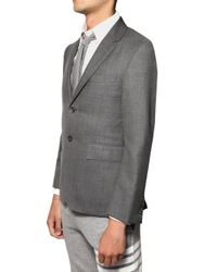Thom Browne - Gray Wool Steptwill Jacket for Men - Lyst
