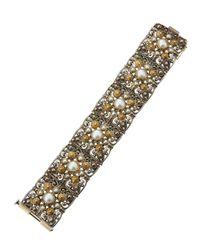 Konstantino - Metallic Melina Two-tone Pearl Station Bracelet - Lyst