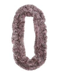 Gorski - Gray Chinchilla Knit Fur Ruffle Shawl - Lyst