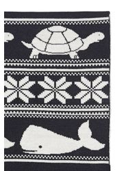 Thom Browne - Black Fine Merino Wool Knitted Scarf - Lyst