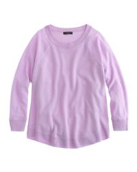 J.Crew - Purple Merino Swing Sweater - Lyst