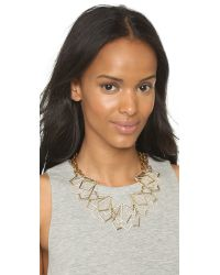 Lulu Frost | Metallic Portico Statement Necklace - Gold/clear | Lyst