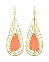 Kendra Scott - Metallic Lyra Openwork Magnesite Earrings Salmon - Lyst