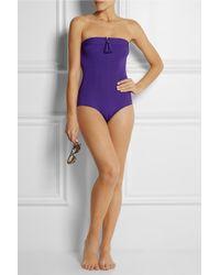 Eres - Purple Sulky Groom Tasseled Bandeau Swimsuit - Lyst