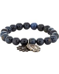Miracle Icons - Blue Double-charm Bracelet for Men - Lyst