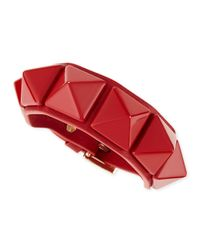 Valentino | Red Medium Rockstud Leather Bracelet | Lyst