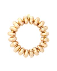 Kenneth Jay Lane | Metallic Nugget Bead Elastic Bracelet | Lyst