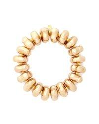 Kenneth Jay Lane - Metallic Nugget Bead Elastic Bracelet - Lyst