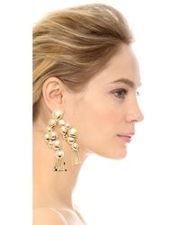 Aurelie Bidermann - Metallic Drop Earrings - Lyst