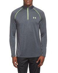 Under Armour | Gray 'tech' Quarter Zip Pullover for Men | Lyst