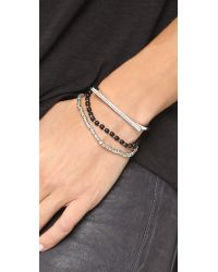 Vita Fede | Metallic Geo Tech Crystal Bracelet | Lyst