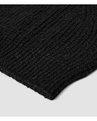 AllSaints | Black Montall Beanie Hat for Men | Lyst
