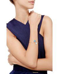Marco Bicego - Blue Lunaria Aquamarina Cuff With Diamonds - Lyst