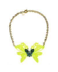 Matthew Williamson - Multicolor Neon Butterfly Necklace - Lyst