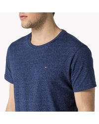 Tommy Hilfiger | Blue Cotton Blend T-shirt for Men | Lyst