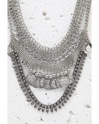 Forever 21 - Metallic Layered Coin Statement Necklace - Lyst