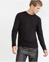 Zara | Black Superslim Top for Men | Lyst