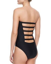 Ella Moss - Black Marrakech Printed/solid One-piece - Lyst