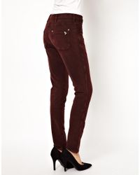 M.i.h Jeans - Red The Ellsworth Skinny Jean in Rose Cord - Lyst
