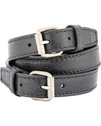 Balenciaga | Gray Classic Arena Wrap Bracelet for Men | Lyst
