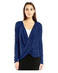 Michael Stars | Blue 1x1 Slub Wear 2 Way Convertible Top | Lyst