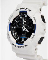 G-Shock - White G-shock Analogue Watch Ga-100b-7aer for Men - Lyst