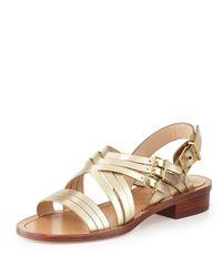 Pour La Victoire - Multicolor Strappy Metallic Flat Sandal - Lyst