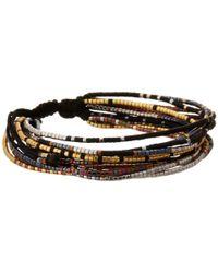 Chan Luu | Black Multi Strand Seed Bead Single Bracelet | Lyst