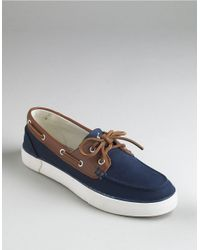 Polo Ralph Lauren | Blue Rylander Canvas Boat Shoes for Men | Lyst