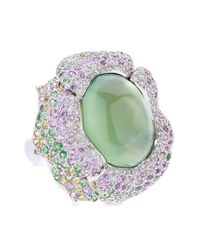 Tina Zafari | Green Flower Ring 1 | Lyst