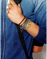 ASOS - Multicolor Beaded And Woven Bracelet Pack In Multi Colour for Men - Lyst