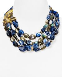 "Alexis Bittar - Multicolor Elements Labradorite, Aventurine & Sodalite Tressage Necklace, 18"" - Lyst"