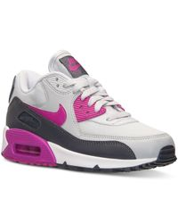 6398b5b3afb928 Gray Women s Air Max 90 Essential Running Sneakers From Finish Line