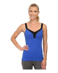Beyond Yoga | Blue Layered Mesh Cami | Lyst