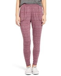RVCA | Purple Slow Your Roll Printed Pants | Lyst