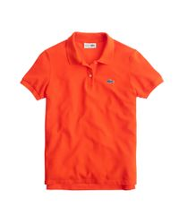 J.Crew | Orange Lacoste Polo Shirt | Lyst