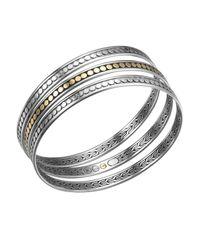 John Hardy | Metallic Dot Gold & Silver 3-Piece Bangle Bracelet Set | Lyst