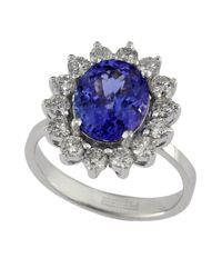 Effy | Blue Diamond, Tanzanite And 14k White Gold Ring, 0.96 Tcw | Lyst